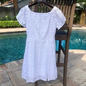 Mossimo white lace off shoulder dress